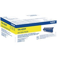 Brother TN423Y Yellow High Yield Laser Toner Cartridge