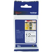 Brother P-Touch TZN Labelling Tape 12mm Black on White TZN231