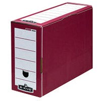 Fellowes Bankers Box Premium Transfer File Red/White (Pack of 10)