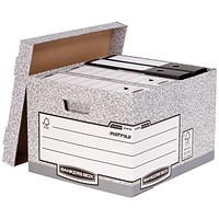 Fellowes Bankers Box System Storage Boxes, Large, Pack of 10