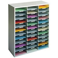 Fellowes Literature Sorter with Melamine-laminated Shell - 36 Compartments
