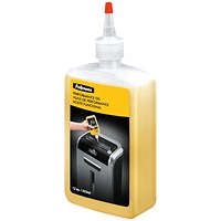 Fellowes Shredder Oil for all Cross-cut Shredders - 355ml Bottle