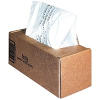 Fellowes Shredder Bags, Capacity 75 Litre, For 225 Series Shredders, Pack of 50
