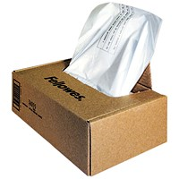 Fellowes Shredder Bags, Capacity 165 Litre, For C-380 C-480 Series, Pack of 50