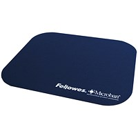 Fellowes Mouse Pad Microban Antibacterial Protection Navy