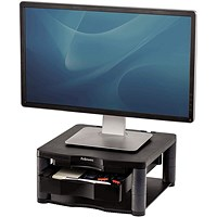 Fellowes Premium Monitor Riser Plus, Black