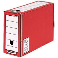 Bankers Box Premium 127mm Transfer File-Red (Pack of 5)