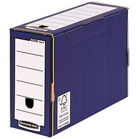 Bankers Box Premium 127mm Transfer File Blue (Pack of 5)