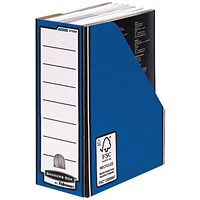 Fellowes Blue /White Bankers Box Premium Magazine File (Pack of 10)
