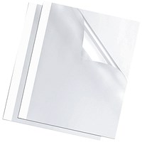 Fellowes Thermal Binding Covers 3mm White - Pack of 100