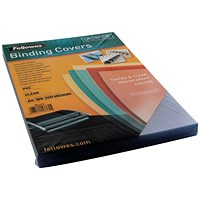 Fellowes PVC Binding Covers, 200 micron, Clear, A4, Pack of 100