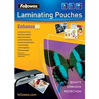 Fellowes Laminating Pouch, 160 Micron, A4, Pack of 25