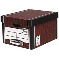 Fellowes Premium 725 Classic Bankers Box, Woodgrain, Pack of 10
