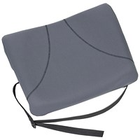 Fellowes Slimline Back Support, Soft- touch Fabric with Adjustable Strap, Graphite