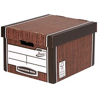 Bankers Box Premium Classic Box Wood Grain (Pack of 5)