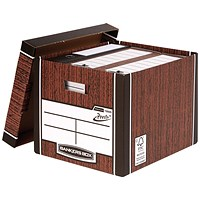 Bankers Box Premium Tall Box Woodgrain (Pack of 5)