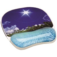 Fellowes Photo Gel Mouse Pad Tropical Beach 9202601