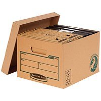 Fellowes Bankers Box Earth Series Budget Storage Boxes, Brown, Pack of 10