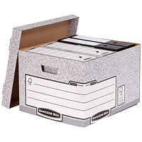 Fellowes Heavy Duty Bankers Box, Large, Pack of 10