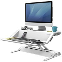 Fellowes Lotus Sit-Stand Workstation Lift Technology, White