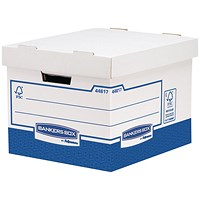 Fellowes Basics Heavy Duty Storage Box Standard (Pack of 10)
