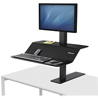Fellowes Lotus VE Sit-Stand Workstation Single