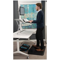 Fellowes ActiveFusion Anti-Fatigue Sit-Stand Mat Black 8707101