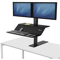 Fellowes Lotus VE Sit-Stand Workstation Dual