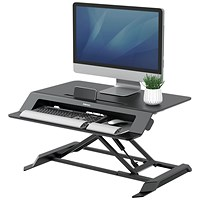 Fellowes Lotus LT Sit Stand Workstation 8215001 Black