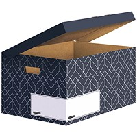 Bankers Box Decor Flip Top Box Grey (Pack of 5)