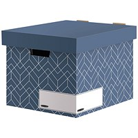 Bankers Box Decor Storage Box Blue (Pack of 5)