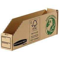 Bankers Box Storage Bin, Corrugated Fibreboard, Packed Flat, 51x280x102mm, Pack of 50