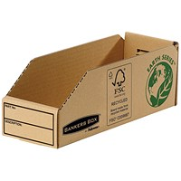 Bankers Box Storage Bin, Corrugated Fibreboard, Packed Flat, W98xD280xH102mm, Pack of 50