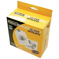 Fellowes CD Envelope Paper White (Pack of 50) 90690