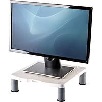 Fellowes Monitor Riser, 17 inch CRT 21 inch TFT, White