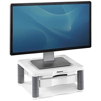 Fellowes Premium Monitor Riser Plus, White