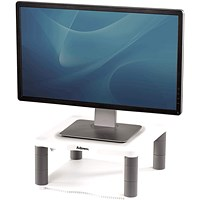 Fellowes Premium Monitor Riser, White