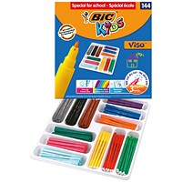 Bic Kids Visa Felt Tip Pens Fine Tip Assorted (Pack of 144)