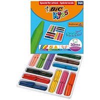 Bic Kids Plastidecor Triangle Crayons Assorted (Pack of 144)