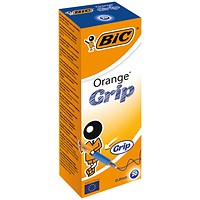 Bic Orange Cristal Grip Ballpoint Pen Blue (Pack of 20)