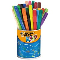 Bic Kids Visa Felt Pens Ultra Fine Tip Assorted (Pack of 36)