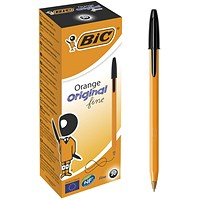 Bic Orange Ball Pen, Black, Pack of 20