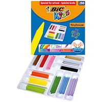 Bic Kids Plastidecor Crayons Assorted (Pack of 288)