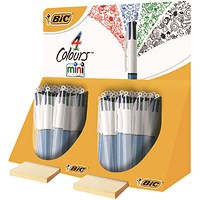 Bic 4 Colours In 1 Mini Ballpoint Pen (Pack of 40) In Counter Display Unit