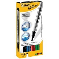 Bic Velleda Liquid Ink Drywipe Marker Assorted (Pack of 4)