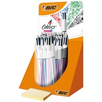 Bic 4 Colour Shine Pen Countertop Display (Pack of 20)