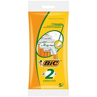 Bic 2 Sensitive Twin Blade Shavers (Pack of 100)