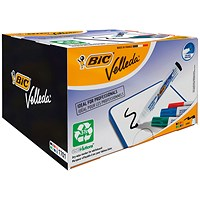 Bic Velleda 1701 Whiteboard Marker, Bullet Tip, Assorted Colours, Pack of 48