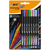 Bic Intensity Fineliner Pens Assorted (Pack of 8)
