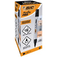 Bic Marking PRO Permanent Marker Black (Pack of 12)